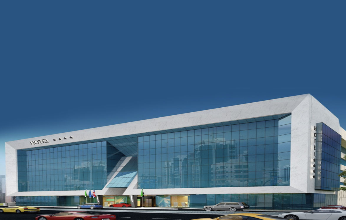 Hotel (B+G+M+3) Floors+Roof) On Plot No.2210130 at Dubai International Airport, Dubai